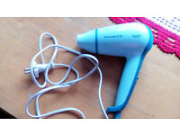 Small Blue Hair Dryer Perfect for Travelling