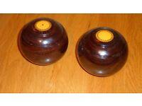 pair of crown green bowls
