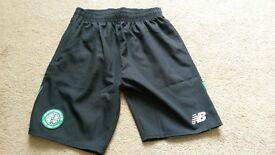 Boys Celtic football club shorts 2016/17