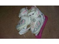 SFR Girls Adjustable Ice Skates (2 pairs available)