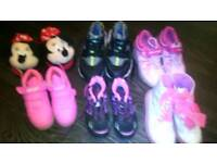 Various shoes kids sizes 10-11adult 5