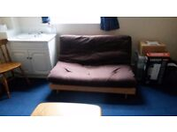 Comfy Double Futon Sofa Bed incl. Frame and Mattress