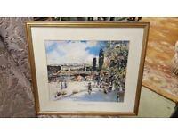 """The Seine At Paris Pont Alexandre III Framed Print By Scottish ArtistJames Kay"