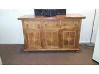 Solidwood Sideboard/Cabinet 3 Drawers + 3 Doors