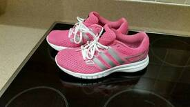 Womens size 5 Adidas pink running trainers