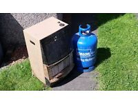 Calor Gas Fire & Bottle --- Nothing Fancy --- Works Great --- £20