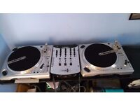 Numark TT1650 turntables with DM3000EX mixer