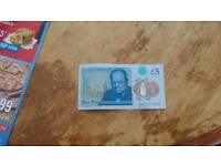 Mint condition rare aa01 £5 note bargain