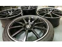 """MERCEDES STYLE 19"""" STAGGERED 5X112 ALLOY WHEELS VW AUDI SEAT CADDY A3 A4"""