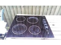 Schott Ceran Diplomat Electric Hob. Approx 8 yrs old with obvious water stains. In gd working order.