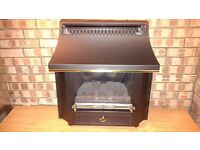 VALOR Black Beauty gas fire complete with balanced flue