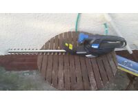 Electric hedge trimmers used once