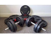 Dumbbells + Barbell Set - Body Power 57kg