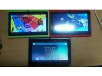3x android kids tablets