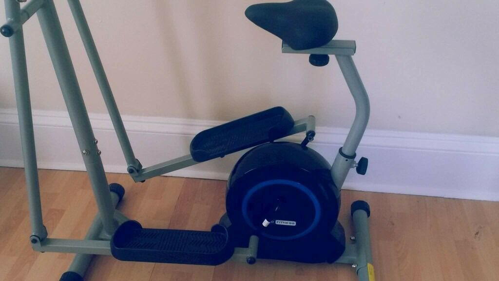 CROSSTRAINER EXERCISE BIKE COMBIin East End, GlasgowGumtree - From argos originally 149.99. Electronic Bought a couple months ago but hardly used. No damages or marks collection only Can be taken apart or kept up for buyer
