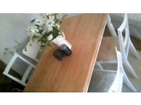 beautiful hand painted shabby chic dining table and 4 chairs
