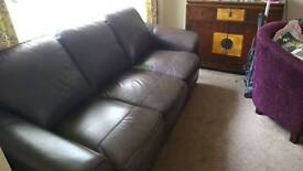 Leather settee 3 seater