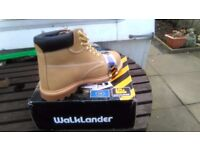 Walklander sand seven eyelet safety tying work boots sizes 7,8,9,10 and 11 new in box £23 collect