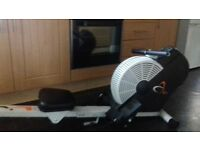 V.fit cyclone air rowing machine.LCD readout .fold away.