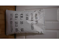 8 x 25kg sacks of Orange to Green silica gel (closing business)