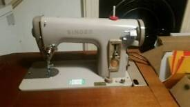 Singer sewing machine and table vintage