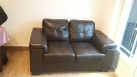 Leather 2seater sofa. Great condition. A year old. Rarely used