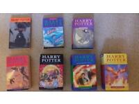HARRY POTTER FULL COLLECTION In mint condion others good but used condition.