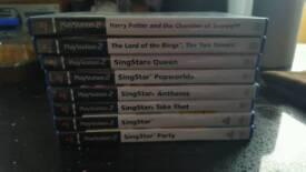 Ps2 games including singstar