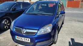 Vauxhall Zafira 1.8, 2006, Blue, 7 Seater, MOT.