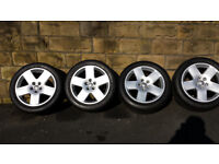 "AUDI A8 D3 SET OF 18"" SPORT ALLOY WHEELS WITH MATCHING DUNLOP SPORT MAXX TYRES"
