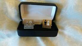 Grooms wedding day cufflinks