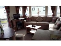 LUXURY 3 BEDROOM CARAVAN FOR HIRE / TO LET TRECCO BAY PORTHCAWL HALFTERM WK END 21/10/16 £219