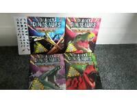 4 new dinosaur colouring books