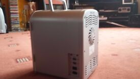 Silver mini fridge with house charger - barely used and works brill