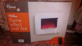 Milan flame effect wall fire