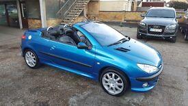 2002 Peugeot 206 CC 2.0 16v SE 2dr / FULL SERVICE HISTORY /LOW MILS