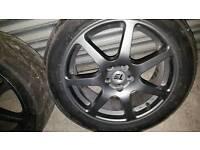 Subaru Impreza alloys and toyo r888 tyres