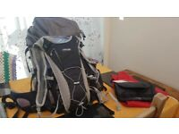 051a90b85c North-face Hiking Bundle back pack with water proof bag also new wash bag