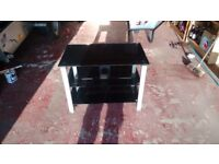 """Black and Chrome TV stand / coffee table ( Up to 32"""" TV)"""