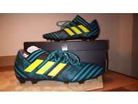 ADIDAS NEMEZIZ Size 9 football boots shoes moulds astro studs *MINT CONDITION*