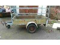 Metal trailer with canopy westfalia