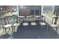 6 mahogany dining room chairs