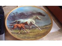 Signed Fred Stone Horse Plate Eternal Legacy -can post for extra-
