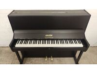 Immaculate Satin Black Kaizen Upright Console Piano - CAN DELIVER