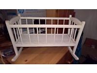 Wooden Dolls Crib