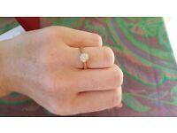 Diamond engagement Ring. Beautiful 18 carat gold ring set with half carat diamond