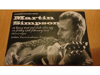 Martin Simpson gig ticket for sale