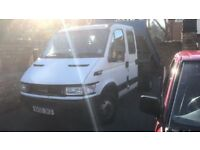IVECO DAILY 35C12 LWB CREW CAB TIPPER TRUCK BETTER THAN TRANSIT GOOD LOW MILEAGE VAN RUNS PERFECT