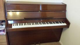 Schreiber, steel framed, overstrung, upright piano
