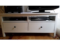 IKEA TV stand – Hemnes white with two drawers - NW6